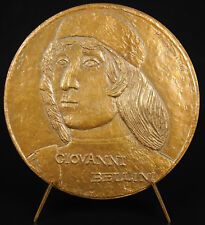 Médaille Giovanni Bellini peintre italien Christ mort soutenu par 2 anges medal
