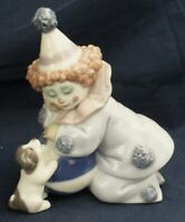 Lladro PIERROT CLOWN WITH PUPPY & BALL model 5278 made between 1985-2007