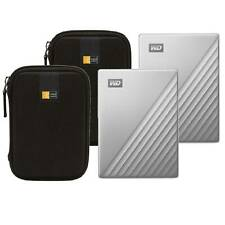 2 WD 4TB My Passport Ultra USB 3.0 Type-C External Hard Drive (Silver) + 2 Cases