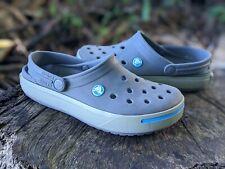 CROCS Crocband Clog Gray Blue Slip On Shoes Women's Size 6