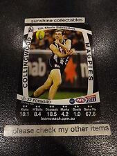 2011 AFL TEAMCOACH BASE CARD COLLINGWOOD NO.126 STEELE SIDEBOTTOM