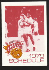 Philadelphia Fury--1979 Pocket Schedule--Getty--NASL