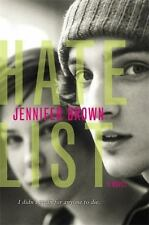 Hate List Jennifer Brown Book By Paperback NEW On Bullying