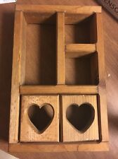 UNFINISHED WOOD SHELF FOR SMALL TRINKETS Heart Doors Pine? Vintage