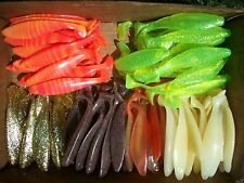"""15ct ASSORTED Colors 6"""" SASSY SWIMBAITS,SHADS,Swim Baits Lures,Boot Tail Minnows"""