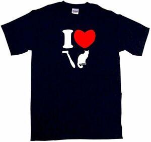 I Heart LOVE Shaved Pussy Cat Logo Men's Shirt Pick Size SM 6XL Color S/S L/S