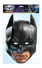 Batman The Dark Knight 2D Card Party Face Mask Fancy Dress Official DC Comics