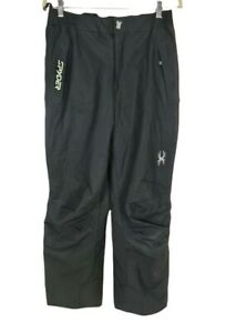 spyder Black Snow Pant Bibs Side Zip Removable Boy Junior Size XL  Mid Rise