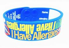 I Have Allergies Silicone Bracelet AllerMates Allergy Wristband alert NEW