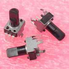 16× Panasonic EVU-F3AF20B14 9mm 10K LINEAR POTENTIOMETER D SHAFT VERTICAL PCB †