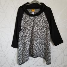 Ruby Rd. Women's Cowl Neck Knit Blouse w/ Handkerchief Hem | Size XL