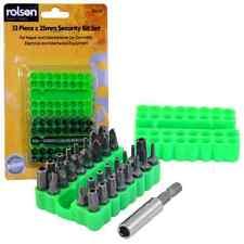 Rolson 33pc X 25mm Bit Set Herramientas Hágalo usted mismo de prueba de manipulaciones Seguridad clave hexadecimal Tri Wing