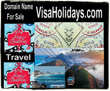 Visa Holidays .com Travel Domain Name For Sale Golf Food Hotel Rooms Luxury Best