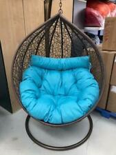 mocha brown egg chair with extra large cushion