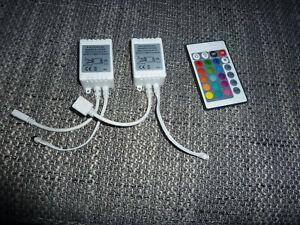 24 Key IR-Box Fernbedienung für RGB-LED-Lichtleiste Wireless Remote Control 2x