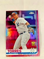 2019 Topps Chrome PINK REFRACTOR Gleyber Torres #86 New York Yankees
