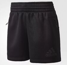 Adidas ZNE Sport Short Pants Size S BS3599 Black Cotton Blend Athletic  NWT