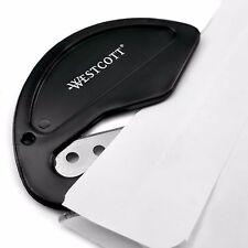 Westcott Black Letter Opener - Metal Blade - Ergonomic Hook Style (E-29699 00)