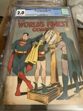 WORLDS FINEST 20 CGC 2.0 OFF WHITE PAGES ( TOYMAN APP. BURNLEY COVER)