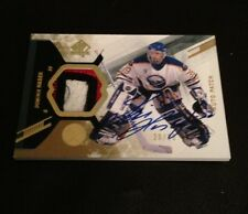 2013-14 UD SP AUTHENTIC DOMINICK HASEK 3 COLOR PATCH ON CARD AUTO 20/25 NICE