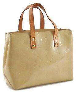 Authentic Louis Vuitton Vernis Reade PM Hand Bag Yellow LV E0185