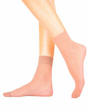 EMA Sheer Pop Socks Ankle High Extra Elastane Glossy Finish 20 Denier - 4 PAIRS