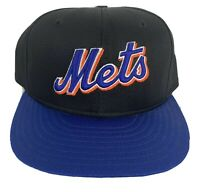 New York Mets Baseball Hat Black Light New Era 7-1/4 Cap