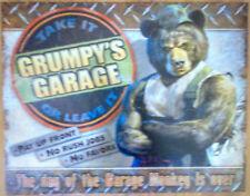 Grumpy's Garage #2011 #Vintage garage #metal #sign nostalgia #birthday gift