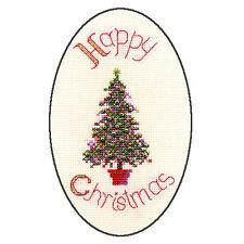Derwentwater Designs Christmas Cross Stitch Card Kit - Festive Tree