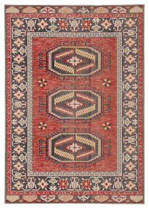 """Jaipur Living Miner Indoor/ Outdoor Medallion Red/ Yellow Area Rug (5'3""""X7'6"""")"""