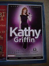KATHY GRIFFIN   PHOENIX AZ  LIVE  CONCERT POSTER 17 X 11  BOXING STYLE