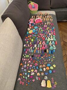 Lot de Polly Pockets vintage poupées+vetements+accessoires+sac EXCELLENT ETAT!