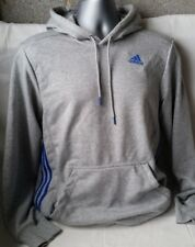 NEW Adidas Essentials 3 Stripe Logo Full Zip Hoodie Mens Sports Top Small A222-8