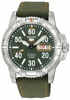 SEIKO Sports SRP215 SRP215K2 Mens Automatic 100m Army Green Dial Band 100m Watch