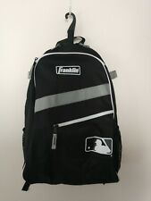 Franklin/Mlb Baseball Backpack Black & white holds 2 bats
