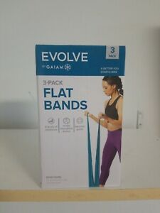 """EVOLVE BY GAIAM 3 Pack Flat Bands -""""A Better You Starts Here!"""
