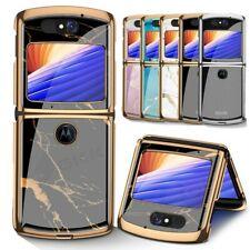 Plating Painted Bumper Tempered Glass Fold Phone Case For Motorola MOTO Razr 5G