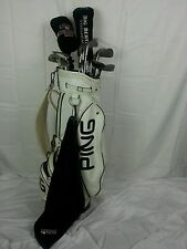 MEN'S Lot of 14 GOLF CLUBS ARNOLD PALMER PING BAG Taylor Made Goldsmith Dunlap