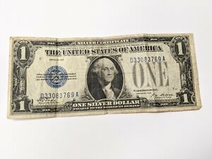 1928  $1 Silver Certificate, Funny Back Note, Blue Seal #786