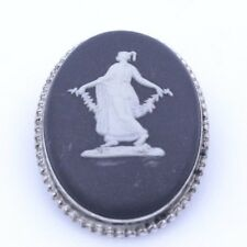 Broach Pin Solid 925 Sterling Silver Cameo Brooch