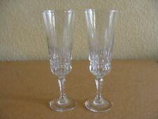 Crystal Cristal D'Arques, Barcelona pattern, 2 Champagne Flutes Glasses