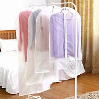 Clear Suit Cover Hanging Garment Storage Bag Dress Suit Clothes Coat Dust-proof