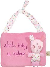 Lollipop Lane Upsy Daisy pink fabric baby's asleep nursery bedroom door hanger