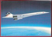 British Airways CONCORDE...in flight... post card