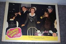 Is Everybody Happy? original 1943 lobby card movie poster Nan Wynn/Ted Lewis