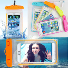 Waterproof Pouch Bag Cover Case For Gadgets Mobile Phone - Fusha