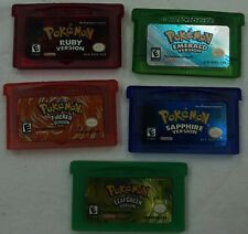 GBA Pokemon Fire Red Leaf Green Emerald Ruby Sapphire Nintendo Gameboy Advance