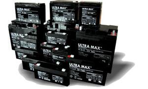 Ultramax 12v / 6v Sealed Lead Acid - AGM - VRLA Batteries