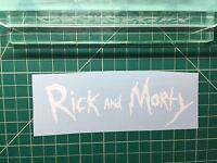 Rick and Morty Logo Decal Diecut Vinyl Sticker Car Window Wall Truck
