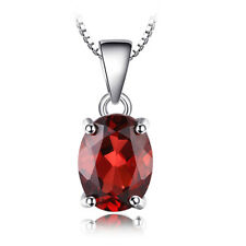 20 Cts Rectangle Shiny Fire Red Garnet Gemstone Vintage Silver Necklace Pendants